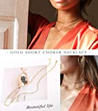 18k Gold Oval Link Chain Choker Paperclip Necklace