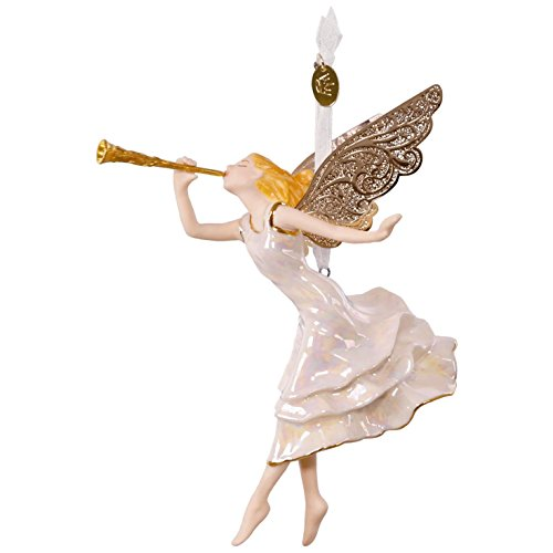 Angels Ornaments (Hallmark Keepsake 2017 Angel of Winter Wonder Premium Porcelain Christmas Ornament)