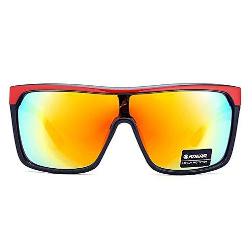 Unisex De De C4 Grande Gafas Color de De Pieza Montura De Gafas Comercio Sol para Al Gafas Una Viento Hombre Sol De De C2 Sol Montar Gafas LBY Exterior Resistentes wqXxt7YfA