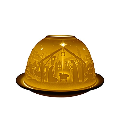 Light-Glow Christmas Nativity Candle Holder Dome Welink
