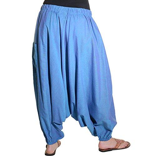 blu Alla Turchese Turca Pantaloni Harem qBUz7xw