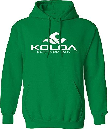 Koloa Surf Wave Logo Hoodies - fleece hoodie, 2XL-Kelly Green ()