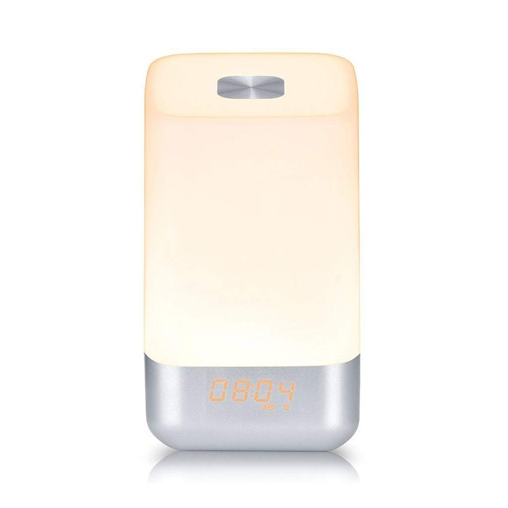 TD Wake Up Light, Creative Multifunction Natural Wake-up Light   Led Atmosphere Night Light Time Alarm Clock Bedside Lamp Q0030