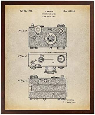 Turnip Designs Camera Patent Poster Art Print Photographer Gift Vintage Camera Home Wall Art Photography Print TNP143