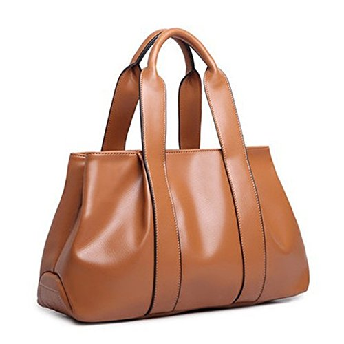 2018 back messenger R ladies' bag model PU dumpling kinds American method bags handbag European capacity burst JVPS15 and shoulder large vintage women's Brown bag three Ms leather fashion bag H5wHZ