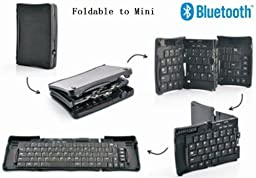 "TOP Quality Wireless Bluetooth Folding ABS HARD KEY Keyboard for Samsung Galaxy Note 2, Note 3, Note 4, Note 5, Galaxy S3, S4, S5, S6, S7, S8, Mini Bluetooth Keyboard for Galaxy Tab 10.1, Note 10.1, Tab 3 7/8/10"", Tab 4 Pro Tablet, Wireless Keyboard for"