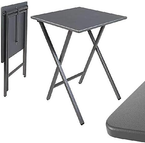 dcasa - Mesa cuadrado plegable gris 48x48x65 cm: Amazon.es: Bebé