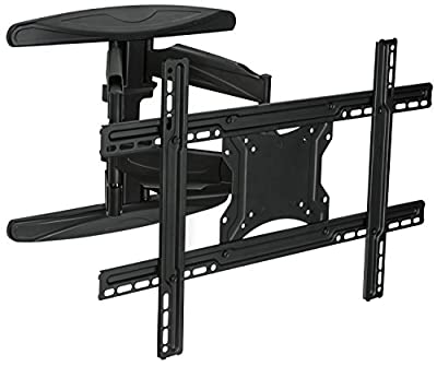 Mount-It! MI-344 TV Wall Mount Full Motion Swivel and Articulating for Flat Screens LCD LED 4K 3D, VESA 600x400, 110 Lbs Weight Capacity, Black