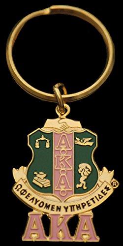 Alpha Kappa Alpha - Shield Keychain (Kappa Alpha Key Ring)