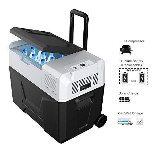 le Solar Fridge Freezer for Car and Outdoor, -4°F True Freezing (42 Quarts) (Solar Lcd Fridge)