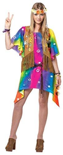 Fancy Groovy Girl Hippie Teen Costume (Little Red Riding Hood Halloween Costume Teenager)