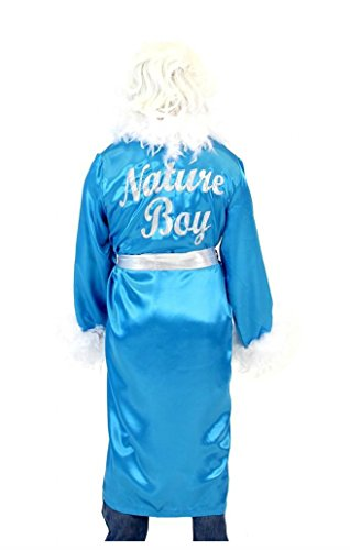 Adult Wrestling Wrestler Ric Flair Nature Boy Costume Robe and Wig (BLUE) (Ric Flair Costumes)