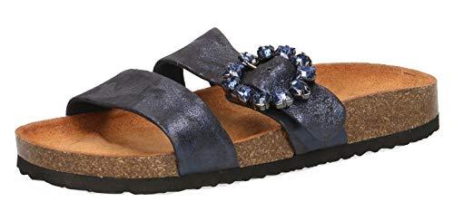 Mulas Caprice Shin Mujer pantofola 862 Ocean muli sue 27402 22 pantofole qtBwr4t