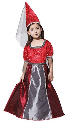 Yarn 020 (Halloween Costumes Elves Princess Skirt Performance Clothing Sequins Dress Girl (Medium))