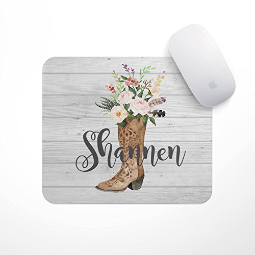 Personalized Mousepad - Custom Mouse Pads (Cowgirl Boot)- Neoprene Mouse Pad - Office Desk Decor - Gaming Mousepads -