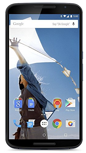 Motorola Nexus 6 XT1103 32GB 3G/4G LTE Factory Unlocked Cell Phone (Midnight Blue) (Nexus Unlocked Cell Phone Google)