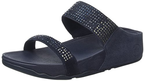 FitFlop Women's Flare Slide Sandal,Supernavy,10 M US