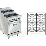 Imperial Commercial Restaurant Range 24 Step Up With 1 Standard Oven Propane Model Ir-4-Su