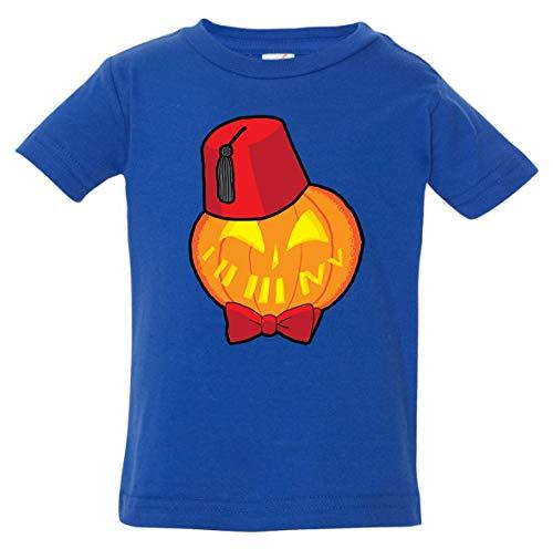 Tenacitee Infant's Timey Wimey Pumpkin Shirt, 12 Months, Royal -