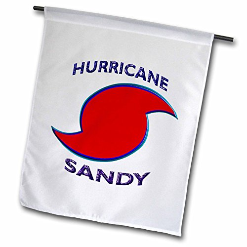3d Rose 3dRose fl_76841_1 Hurricane Sandy with Storm Symb...