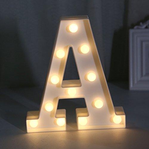 Lamp Alphabet (Yaeer Creative LED Maquee Night Lamp Romantic Alphabet Lights Sign Home Holiday Party Wedding Decoration Lighting)
