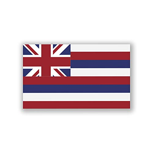 DHDM 2-Pack Hawaii State Flag Decal Sticker | 5-Inches By 3-Inches | Premium Quality Vinyl | PD317 (Hawaii Stickers Flag)