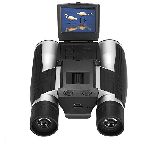 Vazussk 2″ HD Digital Binoculars Camera 12×32 5MP Video Photo Recorder for Bird Watching Football Game with 16GB TF Card
