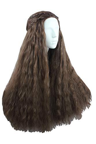 Angelaicos Women's 70cm Lolita Fluffy Wavy Party Sexy Hair Full Wig Long (Brown Black) -