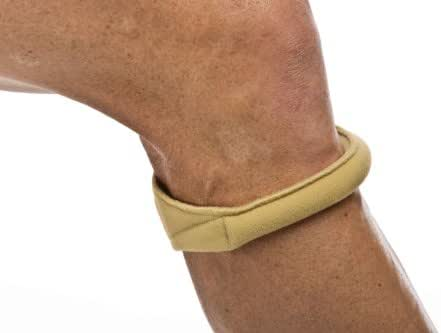 Cho-Pat Original Knee Strap - Recommended by Doctors to Reduce Knee Pain - Tan (Large, 14.5
