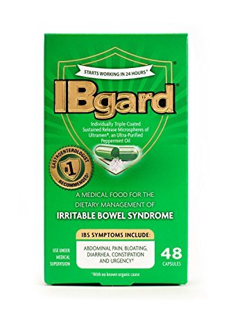Ibgard Individually Triple-Coated Sustained Release Microspheres of Ultramen Peppermint Oil 48 Capsules (2 Pack) by IBgard