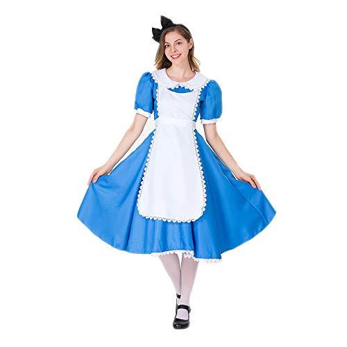 YIBEN Halloween Alice Fantasy Wonderland Maid Costume, Carnival