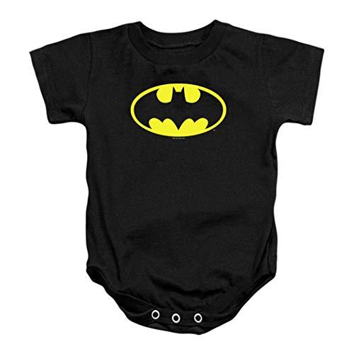 Batman Classic Logo Baby Onesie Bodysuit (24 mos) Black