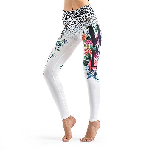 Tmalltide Fashion Women Pants Popular Printed Elastic Yoga Workout Leggings Pants