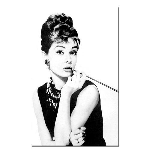 Audrey hepburn 39 s smoking 80x50cm lg 020 cuadro sobre - Audrey hepburn cuadros ...