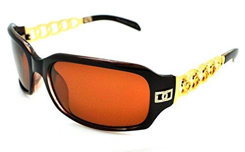 Vox polarisées tendance classique haute qualité pour femme Mode Hot Lunettes de soleil W/étui microfibre gratuit Brown Frame - Brown Lens