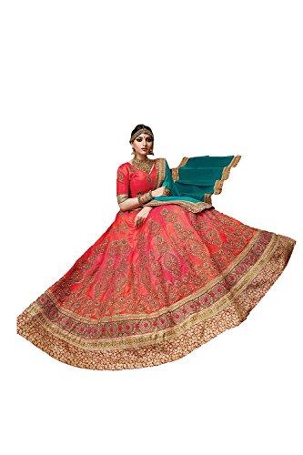 Da Facioun Indian Women Designer Wedding Red Lehenga Choli Fabz-2092