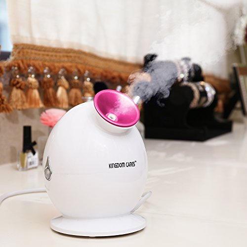 KINGDOMBEAUTY NanoSteamer Warm Mist Facial Steamer Nano Ionic Hot Mist Moisturizing Face Steamer Personal Sauna SPA Unclogs Pores Blackheads Acne Skin Cares Atomizer Humidifier Ionic Sprayer Rose