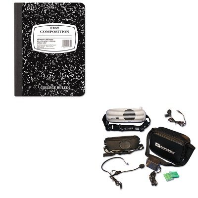 KITAPLS207MEA09910 - Value Kit - Amplivox BeltBlaster PRO Personal Waistband Amplifier (APLS207) and Mead Black Marble Composition Book - Amplivox Personal Amplifier