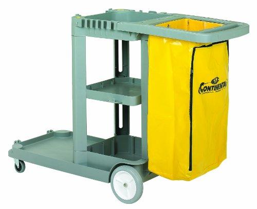Continental 184GY, Grey Standard Janitorial Cart (Case of 1)