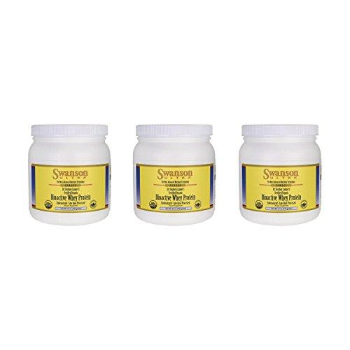 Swanson Certified Organic Undenatured Bioactive Whey Protein 12 oz Pwdr 3 Pack