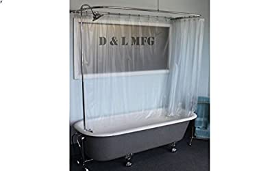 Claw Foot Tub Wall Mounted Shower Curtain Rod Add a Shower with Chrome Bell Shower Head from D & L