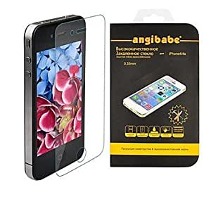 AES - Angibabe Anti-Scratch 0.33mm Super Slim Tempered Glass Screen Protector for iPhone 4 / 4S