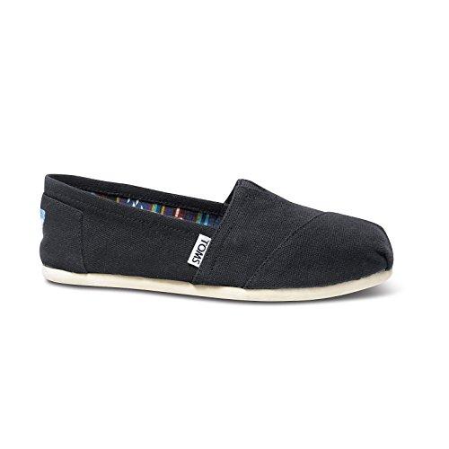 TOMS Shoes Classics Casual Shoes (Black Canvas) 9