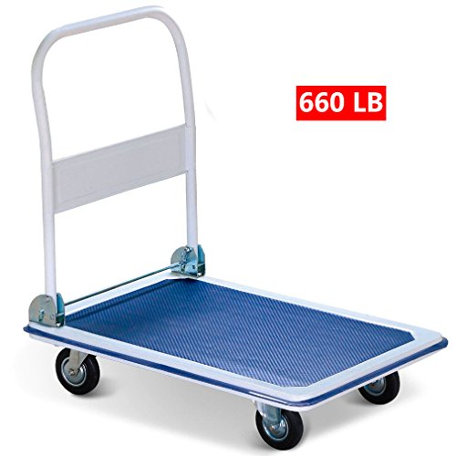 Loading Platform - New 660lbs Platform Cart Dolly Folding Foldable Moving Warehouse Push Hand Truck