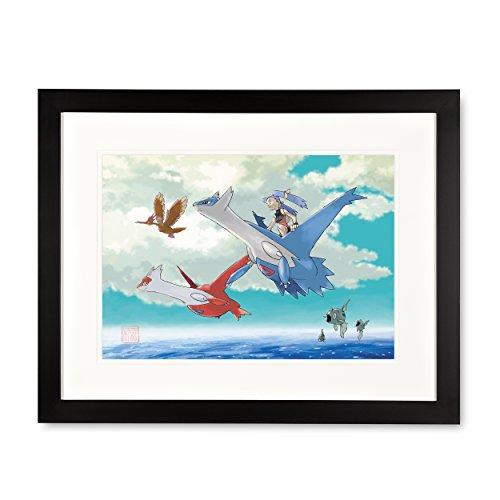 Latios & Latias Framed Art Print by Ken (Framed Ken)