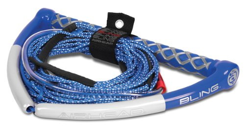 - AIRHEAD BLING Spectra Wakeboard Rope, 75', 5 Section, Blue