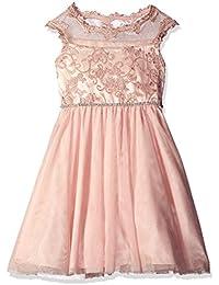 Big Girls' Blush Embroidered Social Dress