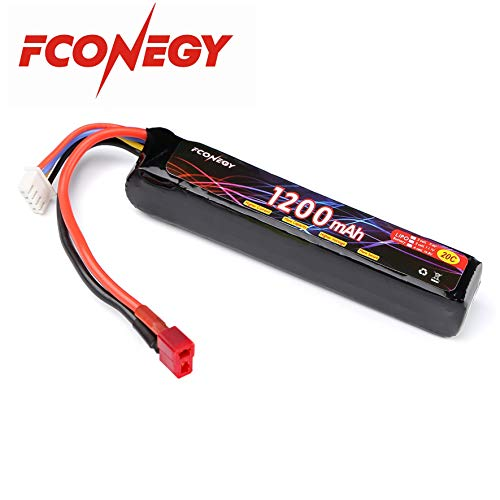 FCONEGY 3S 11.1V 1200mAh 20C Lipo Battery Pack with Deans Plug for RC Gun, RC - Lipo 11.1v 20c Battery