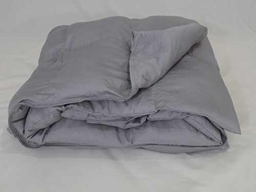6 Foot Twin Large Weighted Blanket by Lifetime Sensory Solutions, Weighted Sensory Blanket for Teens and Adults (20 lb for 150 lb user, Light Grey Sateen)