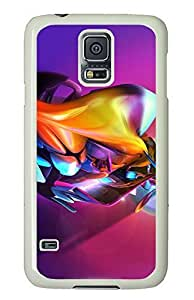 Samsung Galaxy S5 3D Colorful Abstract Colorful Effect PC Custom Samsung Galaxy S5 Case Cover White